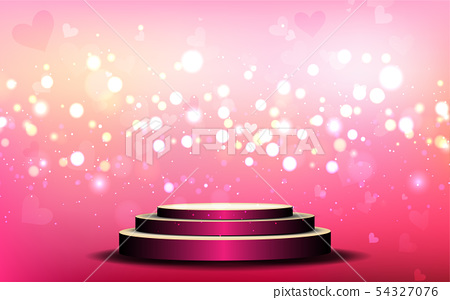 pink podium with pink light abstract background 54327076