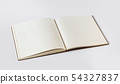 Open blank notebook isolated on grey 54327837