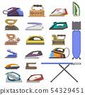 Iron vector ironing electric household appliance of laundry housework illustration irony 54329451