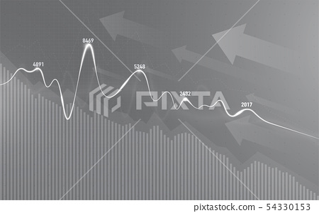 Financial stock market graph on stock market. 54330153