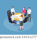 Advertising Agency Isometric Composition 54331277