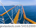 Luxury yacht tackle during the ocean voyage 54332000