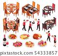 Isometric Restaurant Constructor Set 54333857