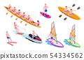 Isometric Water Sports Icon Set 54334562