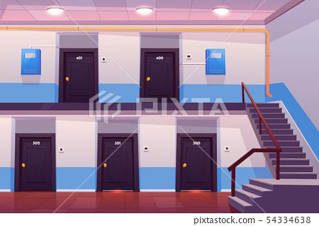 House entrance interior, empty hallway or corridor 54334638