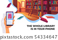 Online library app for reading, electronic books 54334647