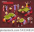 Isometric Casino People Composition 54334814