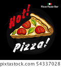 Colored chalk painted illustration of pizza menu. 54337028