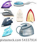 Iron vector ironing electric household appliance of laundry housework 3d realistic illustration 54337914