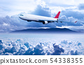 Concept of traveling by plane. 54338355
