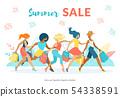 Advertising Poster Inscription Summer Sale Flat. 54338591