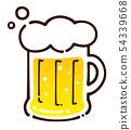 啤酒杯的手拉的例證 54339668