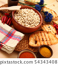 dry legumes in rustic dish 54343408