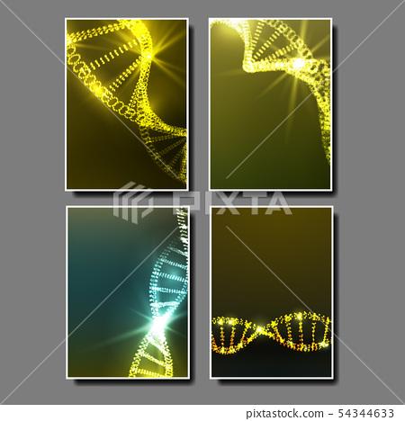 Strand Spiral Of Dna Molecule Set Banner Vector 54344633