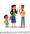 Character Little Boy Stealing Woman Money Vector 54344655