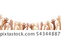 free hands up fun background  54344887