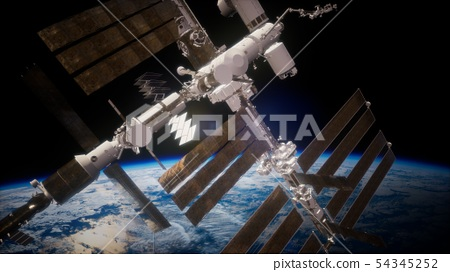 International Space Station in outer space over 54345252