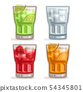 Vector set colorful Drinks 54345801