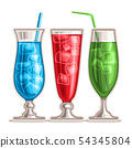 Vector set of colorful Cocktails 54345804
