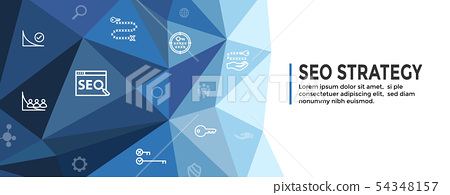 SEO Strategy - Search engine optimization concept 54348157