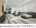 modern dining room and living room luxury decor 54348321