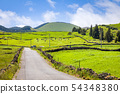 Landscape over Capelas town on Sao Miguel island, 54348380