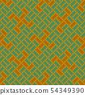 Golden Yarga. Seamless woolen knitted pattern 54349390