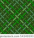 Knitted wool Irish-Saxon ornament 54349393
