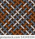 Endless seamless knitted wool Irish-Saxon ornament 54349394