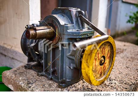 Old filmed elevator motor 54350673