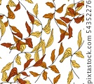 Branches with leaves drawn vector illustration 54352276