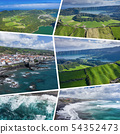 Collage of popular tourist destinations in Azores 54352473