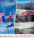 Collage of popular tourist destinations of 54352673