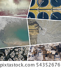 Collage of aerial view on industrial activity and 54352676