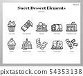 Sweet dessert elements Line pack 54353138
