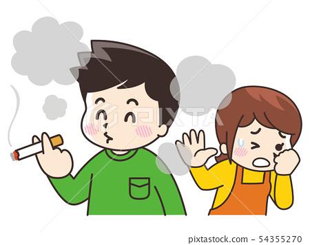 男人吸煙和討厭香煙 54355270