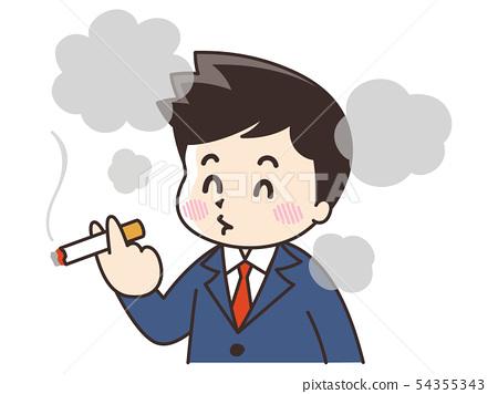抽香煙的商人 54355343
