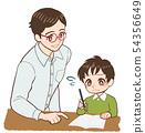 老师和孩子的教学 54356649