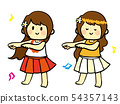 手繪Flappy Hula女孩舞蹈 54357143