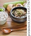韓國食鹽,大米和蔬菜 54357767