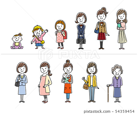 Women: life stage, life 54359454