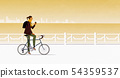 A woman riding a bicycle 54359537
