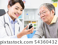 Doctor show blood sugar test 54360432