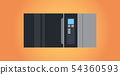 electric microwave oven icon kitchen equipment home appliances concept flat 54360593