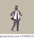 businessman in formal wear standing pose smiling male cartoon character african american business 54360610