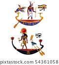 Ancient Egypt sun god Ra or Horus cartoon vector 54361058