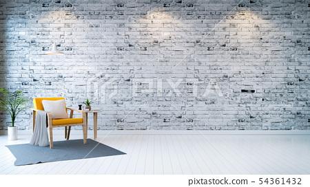 Modern loft interior  ,living room,  54361432