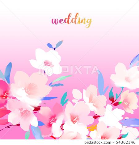 優雅的美麗的水彩花卉和樹枝 54362346