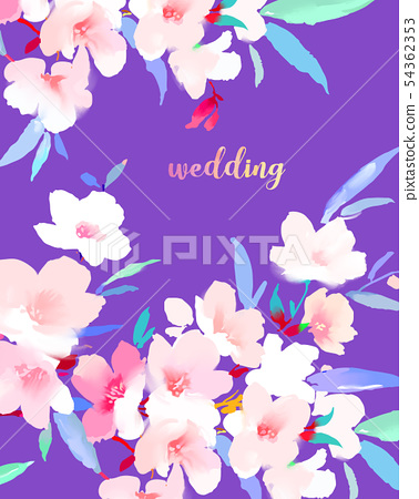 優雅的美麗的水彩花卉和樹枝 54362353