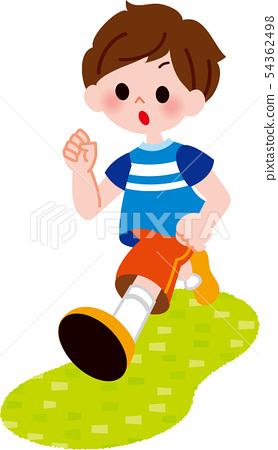 奔跑的男孩 54362498